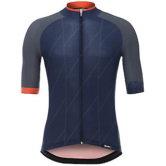 Santini Blue 2018 Ace Short Sleeved Cycling Jersey
