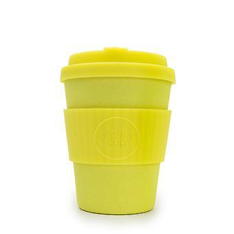 Ecoffee Tasse wie ein Boss mit gelben Silikon 12oz