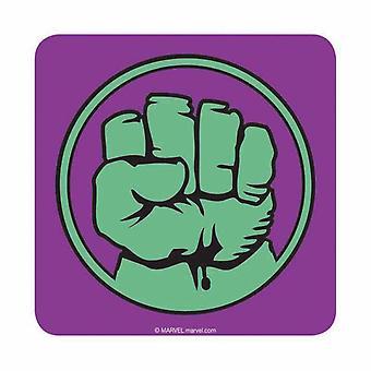 Hulk Coaster Incredible Hulk Fist Logo new Official Marvel