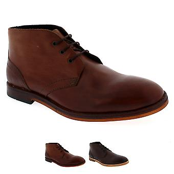 Mens H By Hudson Houghton 2 Lace Up Leather Smart Ankle Chukka Boot Shoe