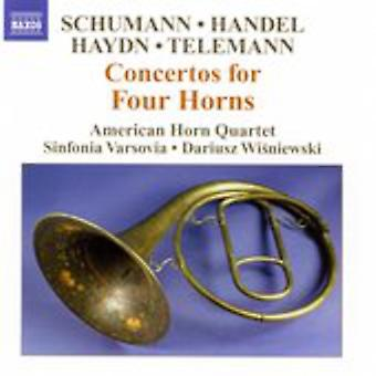 Schumann/Handel/Haydn/Telemann - Schumann, Händel, Haydn, Telemann: Konserter for fire horn [DVD] USA import