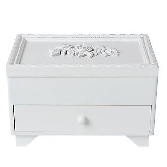 Clayre & EEF romantic jewelry box storage Shabby Chic White mirror