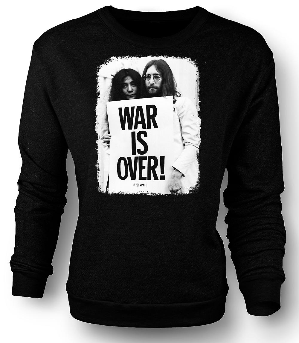 Mens Sweatshirt John Lennon & Yoko - guerre est plus