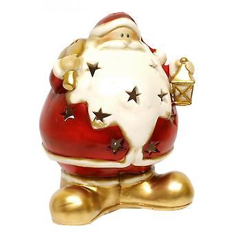 Gisela Graham Round Santa Nite Lite 50147 Lamp Gisela Graham