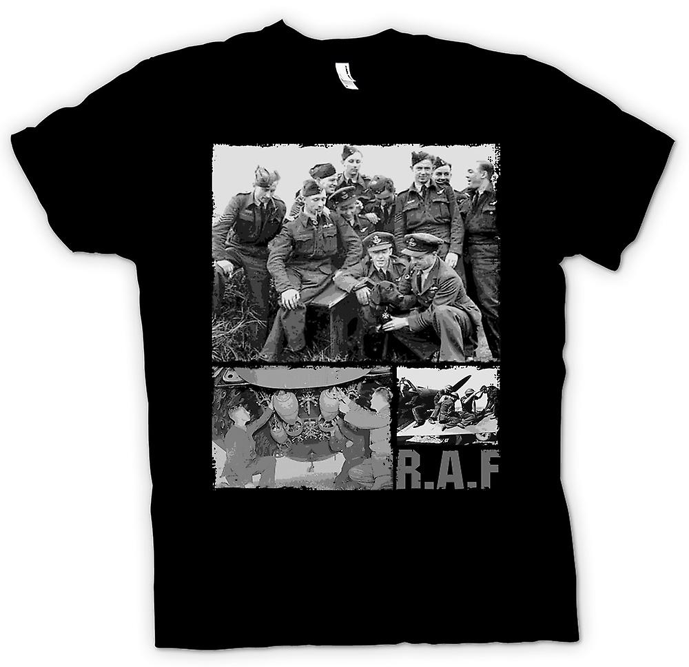 Womens T-shirt-R.A.F Royal Airforce - World War 2