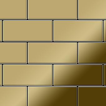 Metal mosaic Titanium ALLOY Subway-Ti-GM