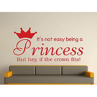 Being A Princess Wall Art Sticker - Deep Red