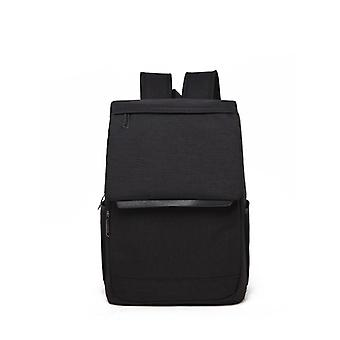 Modern Canvas backpack with cylinder head-Black