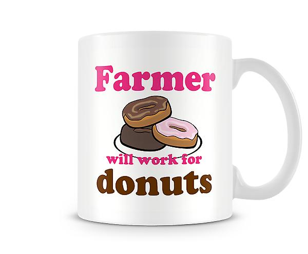 Farmer Work For Donuts Mug