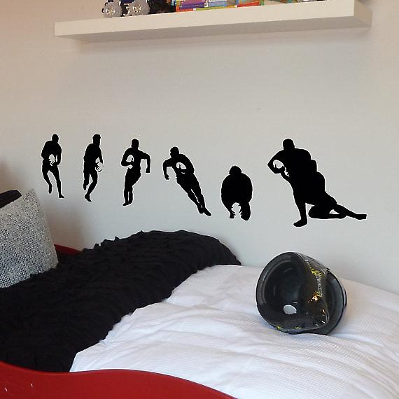 Rugby Players small pack of six Wall Stickers