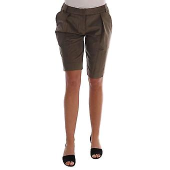 Ermanno Scervino Brown Velvet Bermuda Shorts -- BYX1371696