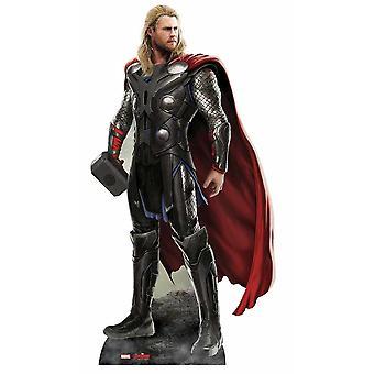 Thor Vingadores idade de recorte de papelão Lifesize Ultron Marvel / cartaz / stand-up