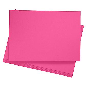 20 A4 Bright Pink Card Sheets for Crafts
