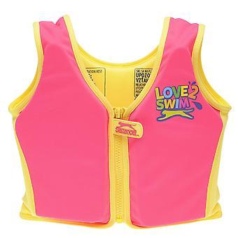 Slazenger Kids Childrens Float Vest riem Zip haak lus Tape bevestigen zwemmen Pool