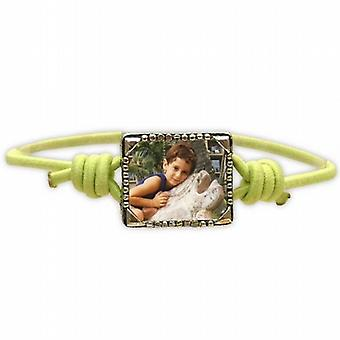 Bandz Children Girls Green Photo Frame Elastic Stretch Bracelet