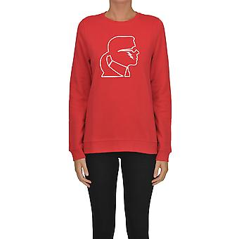 Karl Lagerfeld Red Cotton Sweater