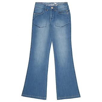 Cream Eline Wide Leg Jeans