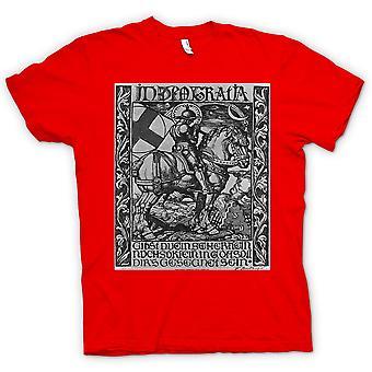 Dame T-shirt - ridder i panser - krig plakat