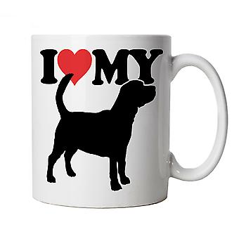 I Love My Beagle Mug | Crufts Dog Show Kennel Club Pedigree Breed Puppy | Dog Gift Fur Baby Lover Owner Mans Best Friend | Dogs Cup Gift