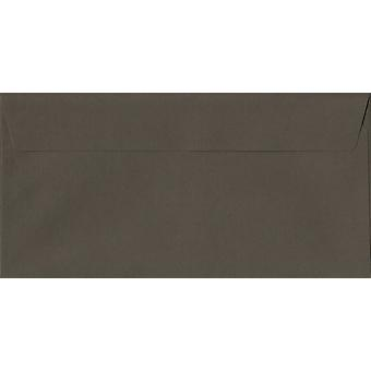 Graphite Grey Peel/Seal DL+ Coloured Grey Envelopes. 120gsm Luxury FSC Certified Paper. 114mm x 229mm. Wallet Style Envelope.