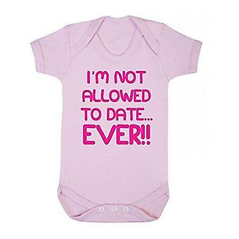 I'm not allowed to date ever short sleeve babygrow