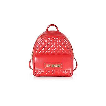 Love Moschino Bag Quilted Nappa Pu Women's Backpack (Red) 31x12x30 cm (W x H x L)
