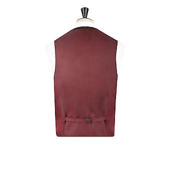 Harris Tweed Mens Green Barleycorn Tweed Waistcoat Regular Fit 5 Button
