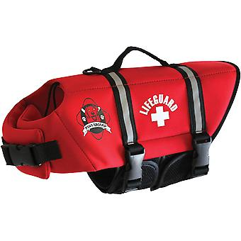 Paws Aboard Neoprene Doggy Life Jacket Medium-Red NEOM-R1400