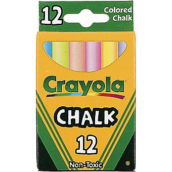 Crayola Chalk Assorted Colors 12 Pkg 51 0816