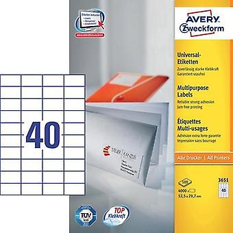 Avery Universal Labels, White 52,5x29,7mm Avery-Zweckform 3651