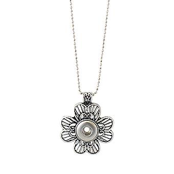 Stainless steel necklace with pendant for mini click buttons KB0345-S