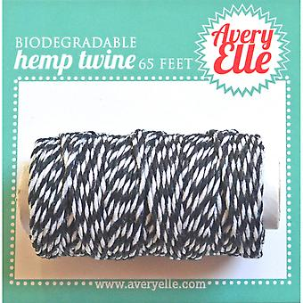 Avery Elle Hemp Twine 65ft-Midnight T16-01