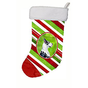 Stor danske Candy Cane Holiday Christmas Christmas Stocking LH9236