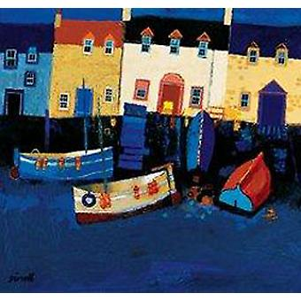 George Birrell print - Boote bei Tarry Wand