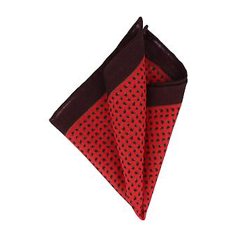 Pellens & Loïck handkerchief Hanky Cavalier cloth black Paisley Red