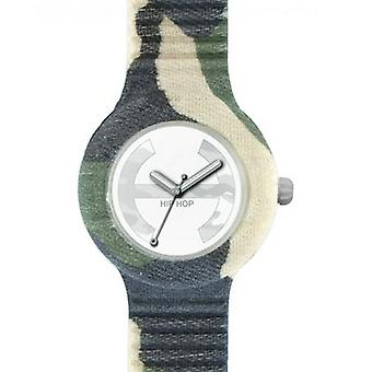 Hip Hop clock watch silicone Camouflage Small HWU0366