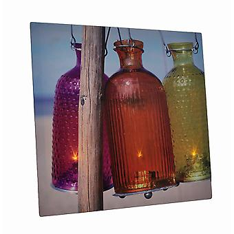 Beach Lanterns 15 X 15 LED Lighted Canvas Wall Hanging