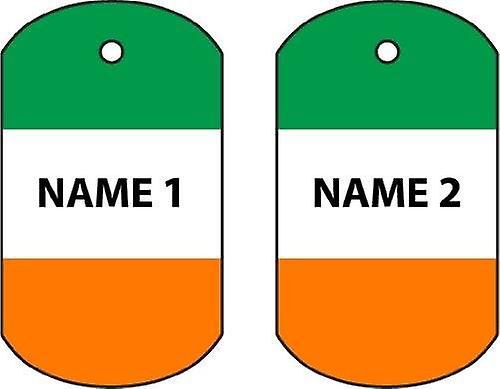 Personalised Ireland Dog Tag Car Air Freshener