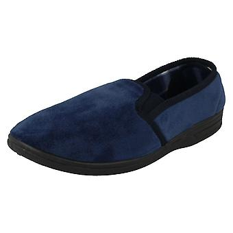 Mens Spot On Casual Slip On Slippers MS22