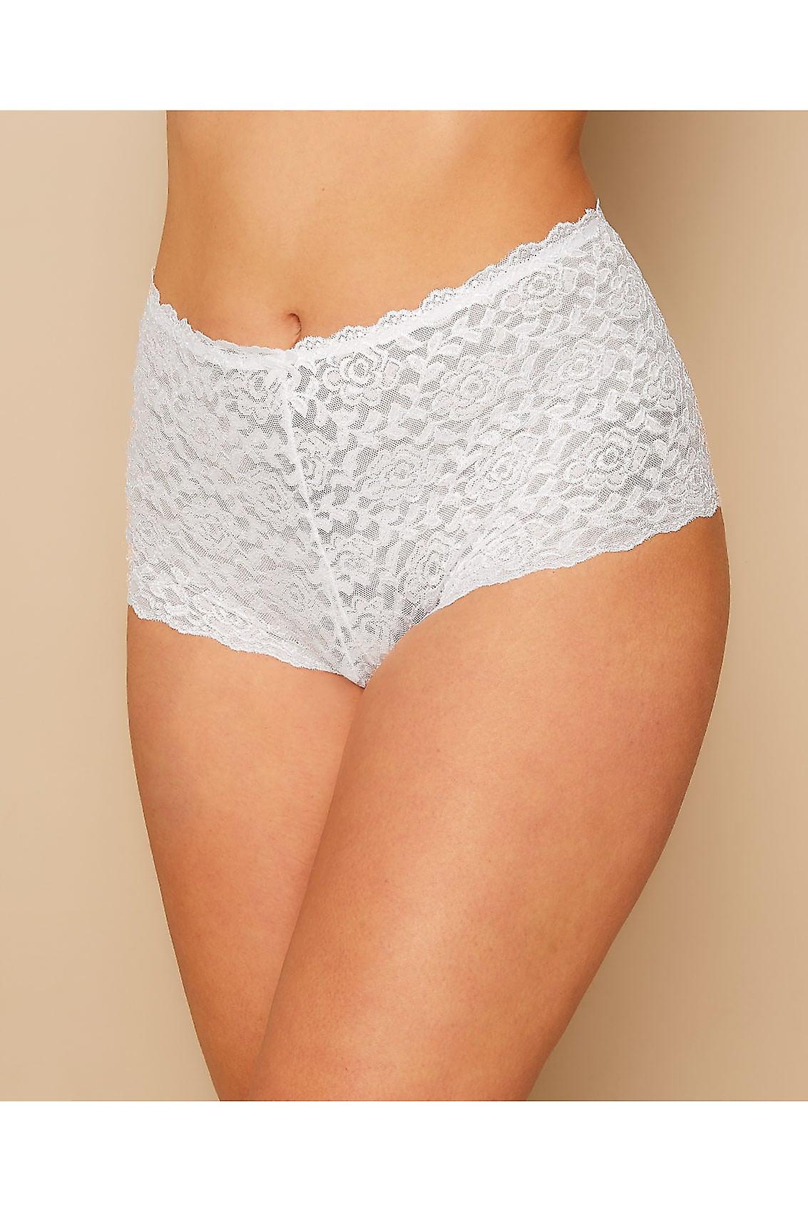 White Shine Lace Shorts