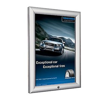 A2 Lockable Silver Snap Frame