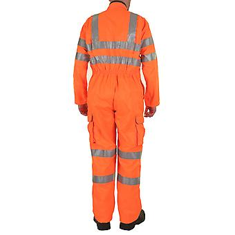 Beeswift RSC Rail Spec Orange Coverall Hi Vis Orange Boilersuit