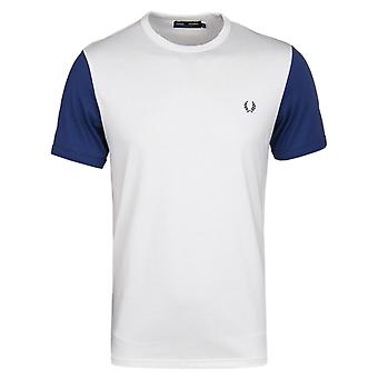 Fred Perry Snow couleur blanche bloc Crew Neck T-Shirt