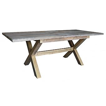 Classic Sorrento Reclaimed Small X-leg Extending Table
