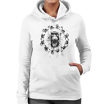 Monkey Fever 12 Monkeys Women's Hooded Sweatshirt