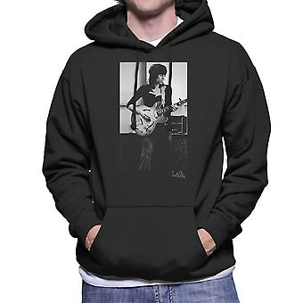 Rolling Stones Keith Richards Playing Guitar Men's Hooded Sweatshirt