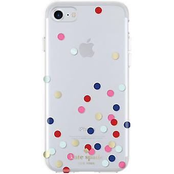 kate spade new york Flexible Hardshell Case for iPhone 7 - Confetti Dot Clear/Mu