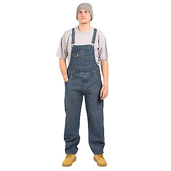 Peviani - Relaxed Fit Dungarees - Stonewash Jean denim unisex bib overall