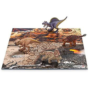 Schleich Mini Dinosaurs With Lava Field Puzzle