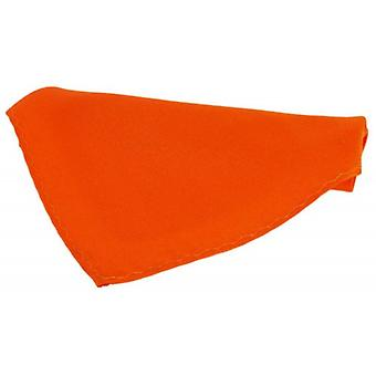 David Van Hagen Satin Silk Handkerchief - Burnt Orange